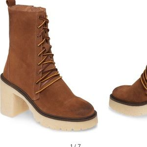 Free People brown Dylan bootie-new